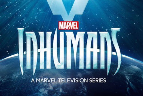 "A view of Earth and space, with the words ""Marvel, Inhumans, A Marvel Television Series"""